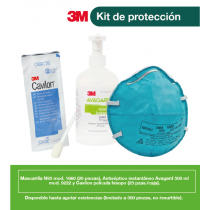 KIT CON 20 MASCARILLAS 1860, 25 CAVILON HISOPO, 1 AVAGARD D 500 ML