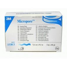 MICROPORE BLANCO 7.6CM(3IN) X 9.14 M CAJA C/4 ROLLOS