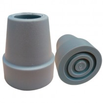REGATON DE 3/4 PULG P/ BASTON ALEMAN JUEGO C/2  COLOR GRIS