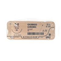 CATGUT CROMICO GASTRO 2-0 70CM SH 1/2 25 MM SOBRE